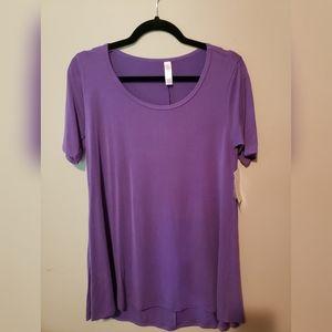 NWT XXS Lularoe Perfect Tee Solid Purple